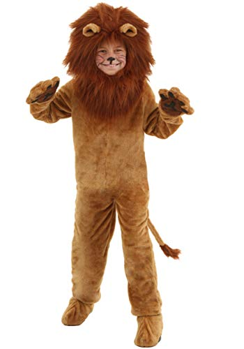 Fun Costumes Child Deluxe Lion Faux Fur Jumpsuit Costume Large]()