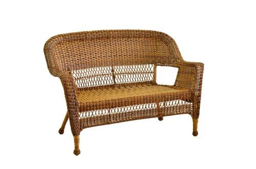 Wicker Loveseat (Honey Wicker Patio Love Seat)
