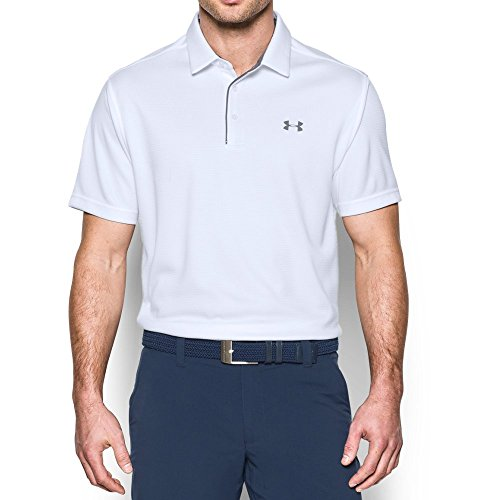 Under Armour Men's Tech Polo, White (100)/Graphite, Medium