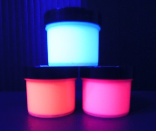 - Mother's Day Trio UV Reactive Acrylic Paint Set- 1oz Pots, Neon Rave Fluorescent