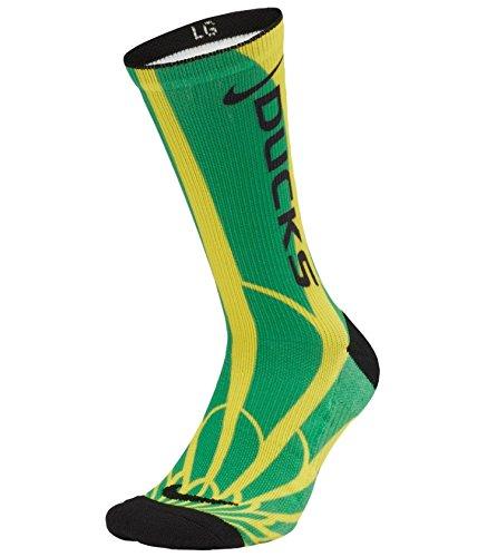Nike Oregon Ducks Logo Crew Socks Size Large Men's (8-12) ()
