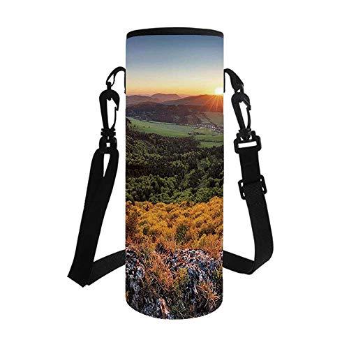 TecBillion Nature Stylish Bottle Sleeve,Balkans Slovakian Mountain Valley at Sunset Sky Surreal Landscape for Bottle & Vacuum Cup,3.1''L x 3.1''W x 7.4''H