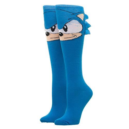 Sonic Knee High Socks Sonic the Hedgehog Socks Sonic Accessories - Sonic the Hedgehog Apparel Sonic Socks ()