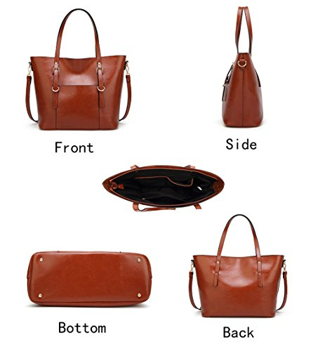 Handbag for Women Soft PU Leather Top Handle Satchel Clutch Purse Shoulder Bags for Lady by Jeniulet (Image #2)
