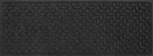 Bungalow Flooring Waterhog Indoor and Outdoor Runner Rug, Ellipse Collection, Skid Resistant, Catches Water and Debris, Easy to Clean, 22-Inches by 60-Inches, Ridged Abstract Design, Charcoal