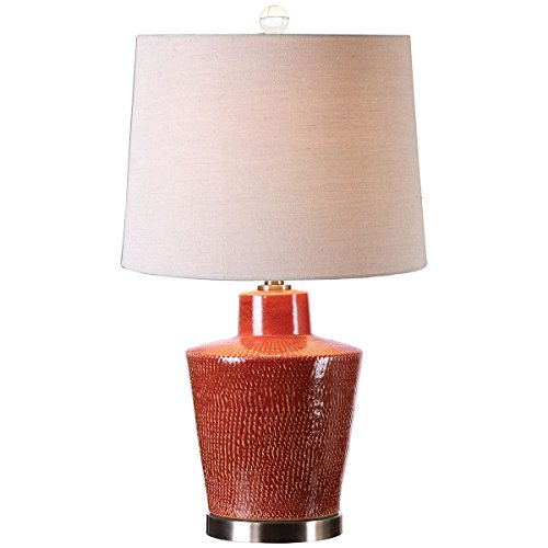 Uttermost 26903 Cornell Brick Table Lamp, Red