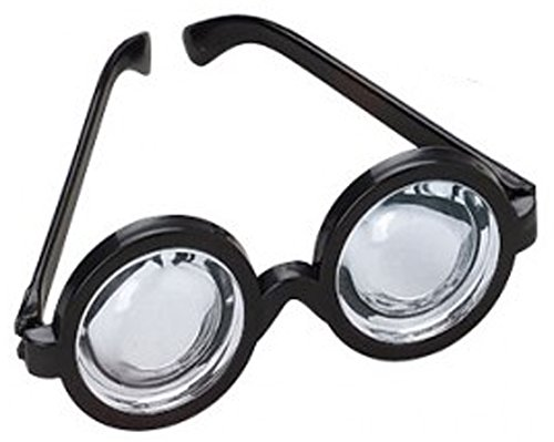 RI Novelty Nerd Doctor Glasses Magic Black Frame -