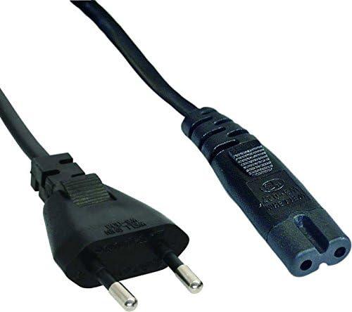 Cable de alimentación bipolar de 2 polos, 1,4 m, enchufe europeo para PlayStation 1 PS1/2 PS2/3 PS3/4 PS4/4 Slim: Amazon.es: Electrónica