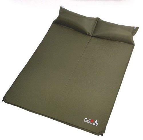 e-joy BSWolf q3006-bダブルアウトドア自動blow-up Inflating Damp Proof Sleepingキャンピングマットマット(サファイア) B01IE0C18G  アーミーグリーン
