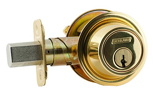 Schlage B562P 605 C Keyway Series B500 Grade 2 Deadbolt Lock, Double Cylinder Function, C Keyway, Bright Brass Finish by Schlage Lock Company