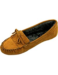 Nina Womans Comfort flat Suede Loafer Fleece Oxford bottom soft sole moccasins
