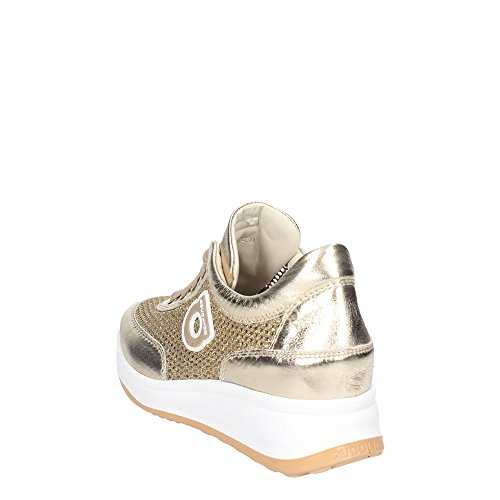 Rucoline1304-82983 1304 A NETLAM Sneaker perforiert silberfarbenen neuen Frühling Sommer 2017 Oro