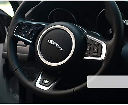 JSAMZ Aluminum Alloy Milled Steering Wheel Trim Ring in Four Colors Optional For Jaguar XF XE F-pace F-type (Alloy silver)