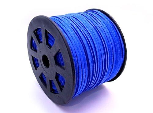 スエードレザーコード 幅3mm ロイヤルブルー 90mx5個セット su-59x5   B00HTM3C6G