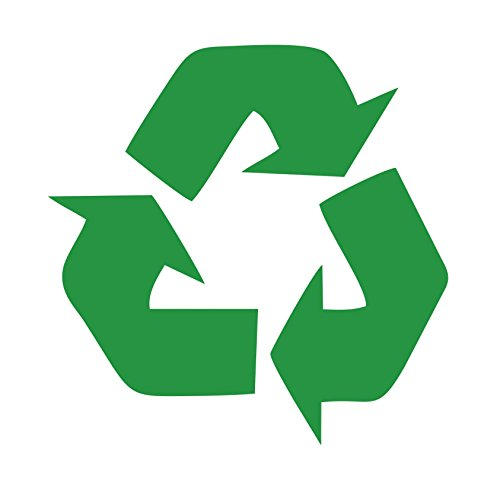 (Recycling Symbol green vinyl cut-out sticker 4.5