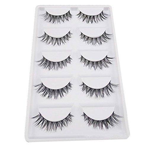 Start 5 Pair Crisscross Natural Make Up Long Soft Dense False Eyelashes