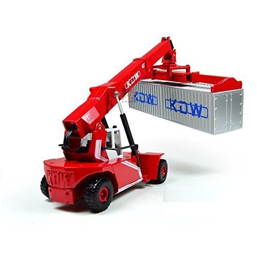 eMart Children Kids Alloy Die-cast Model Toy Container Reach Stacker Truck Vehicle Miniature Car Metal 1:50 Gift by E-MART