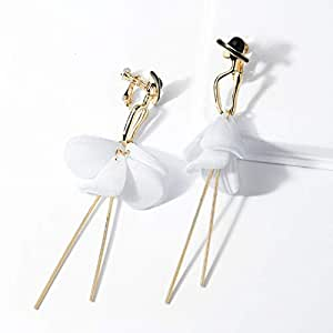 Amazon.com: Maerye S925 Silver Simple Petals Tassel