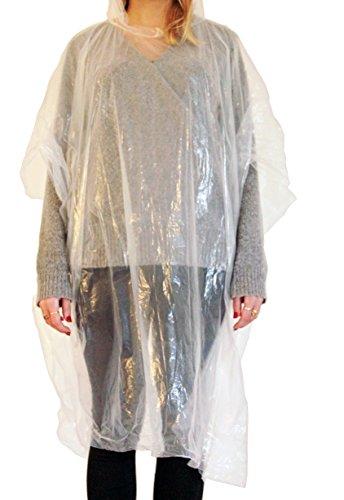 Thorani Poncho Transparent de Pluie 140-190 cm Léger, Compact, Imperméable I Poncho pour Les Festivals, Le Camping & Les Voyages