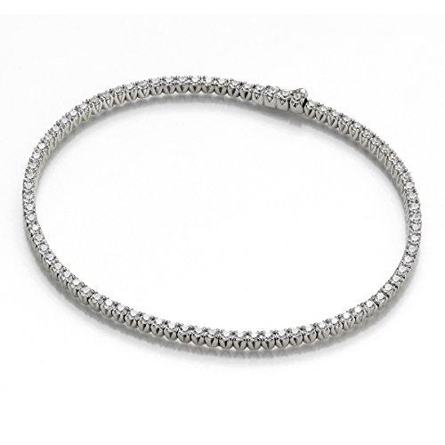 Tousmesbijoux Bracelet rivière 4 Griffes or blanc 750/00 et diamants 2,13 carats