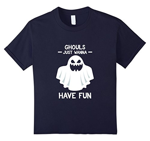 Girls Just Wanna Have Fun Costume (Kids Ghouls Just Wanna Have Fun - Halloween Shirt for Girls 12 Navy)