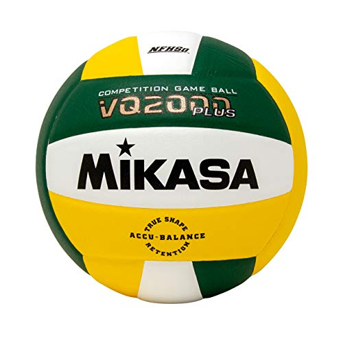 Mikasa Micro cell Volleyball, Green/Gold/White (White Volleyball Green And)