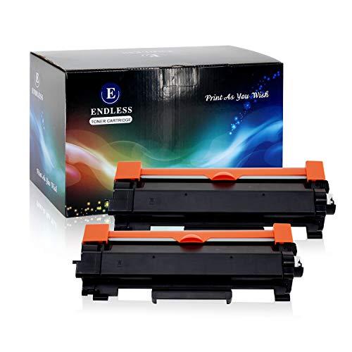 Compatible Toner Cartridge Replacement for Brother TN760 TN-760 TN730 with Chip Compatible for Brother Laserjet Printer MFC-L2730DW DCP-L2550DW MFC-L2750DW by Endless (Black, 2 Packs, High -