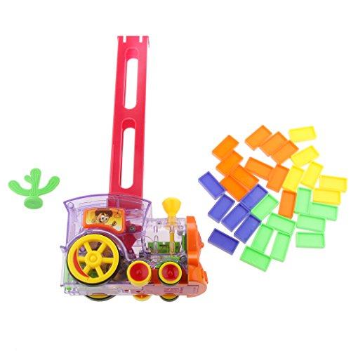 ドミノ ブロック置く 電車おもちゃ トラック ビルディングブロック 光と音 興味玩具 ギフト