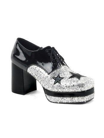 c81f42162a12 Mens 70s Disco Glitter Platform Shoes  Amazon.co.uk  Shoes   Bags