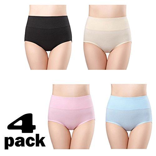 82e2c7eff810 wirarpa Women's Cotton Underwear High Waist Full Coverage Brief Panty  Multipack - Women's Lingerie   Underwear Shop