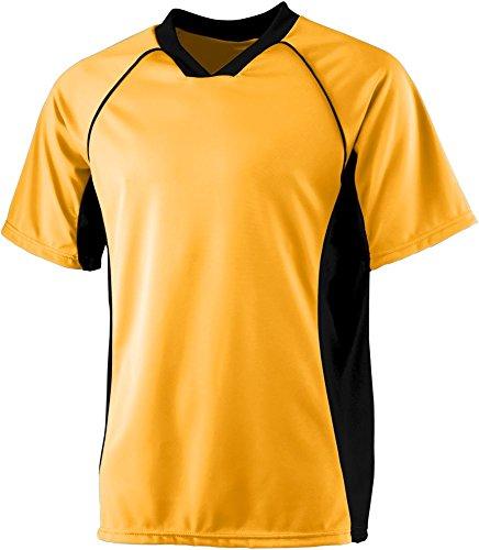 Augusta Sportswear Soccer Shirt - Augusta Sportswear BOYS' WICKING SOCCER SHIRT M Gold/Black