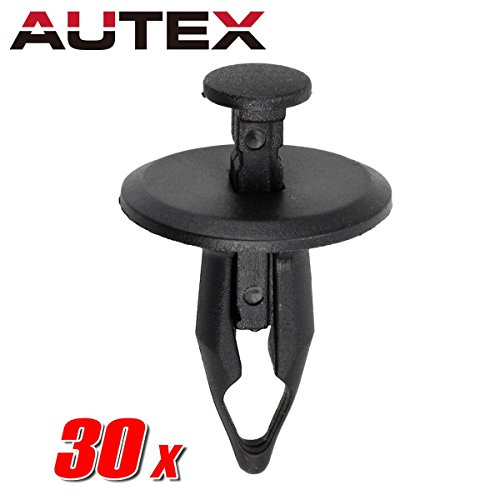 AUTEX 30pcs Fender Liner Fastener Rivet Push Clips Retainer Nut