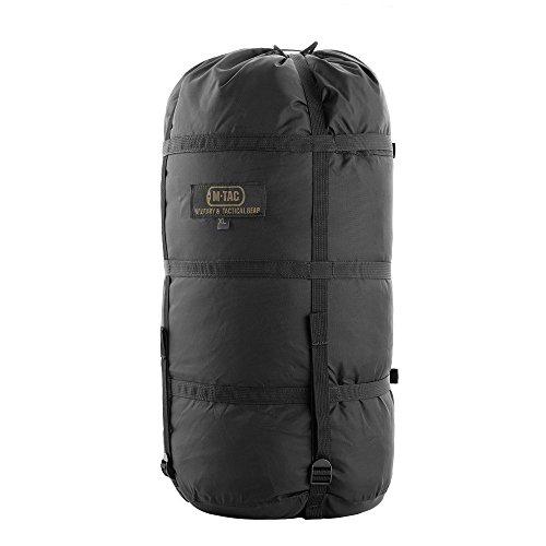 M-Tac Nylon Sleeping Bag Compression Sack - Stuff Bag Camping Hiking Backpacking XL (Black) ()
