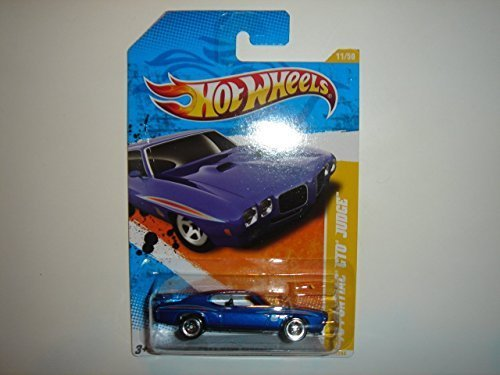 2011 Hot Wheels 70 Pontiac Gto Judge Blue  11 244