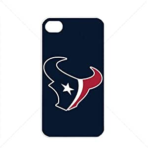 NFL American football Houston Texans Fans Apple iPhone 4 / 4s pc hard hard Black or White case (White)