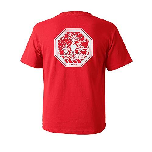 (Night Light Vase Scotchlite Octagon Logo T-Shirt - Red (Medium) )