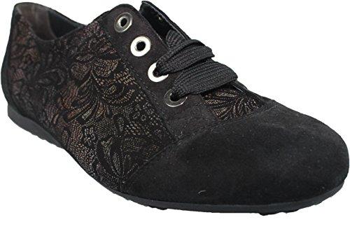 Semler , Chaussures de ville à lacets pour femme noir noir