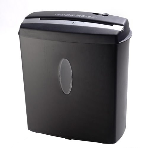 New 10 Sheet Cross-Cut Paper Credit Card Staples Shredder w Basket Home Office