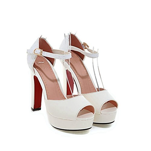 Sandale Plate Toe Sangle Robe Chaussures Blanche Forme Party Blanc BtxAqw