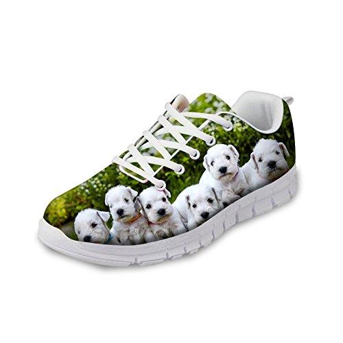 Knuffels Idee Leuke Hond Damessneakers Bresthable Loopschoenen Shoes1