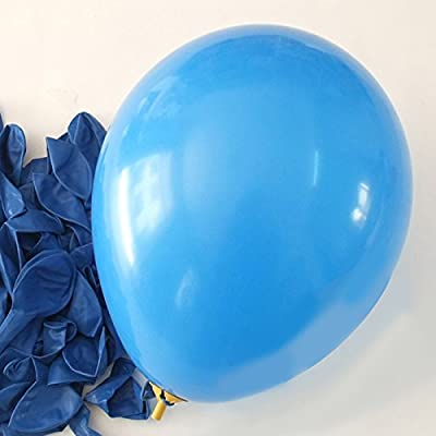 "C-Spin - 25 pcs 12"" Balloons 12 Inches Thickness Latex Balloon For Party Wedding Christmas New Year Birthday Cinco de Mayo Party Bridal Baby Shower Decoration Supplies (Blue): Office Products"