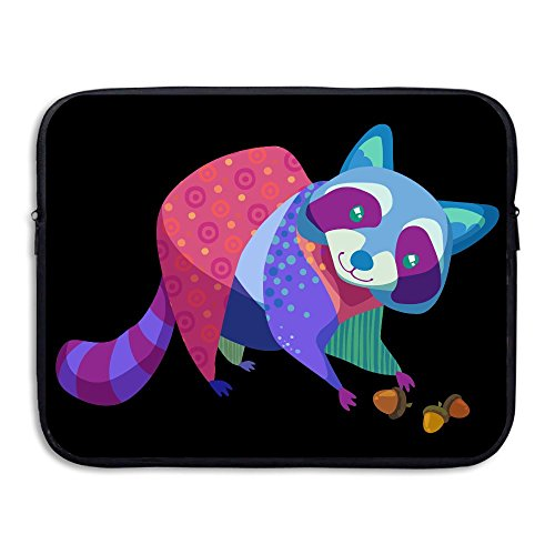 Used, Creative Colorful Raccoon Design Laptop Sleeve Case for sale  Delivered anywhere in USA