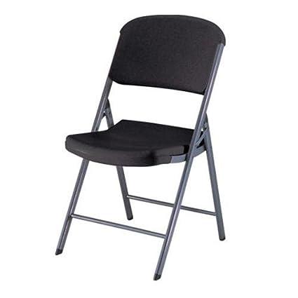 Amazon.com: LIFETIME PROD INC 80061 Black Folding Chair ...
