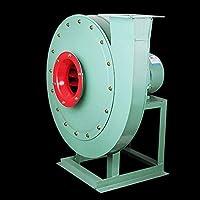 Ventilador centrífugo silencioso de alta presión, ventilador de hoja de acero con carcasa de acero al carbono ventilador de extracción de polvo de tubería de movimiento de cobre puro, taller, almacé: Amazon.es: