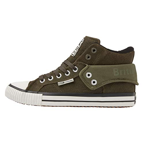 Baskets Homme British Fonc Hautes Knights Roco Vert WHBB7an