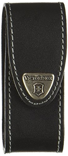 Victorinox Leather Pouch with Clip (Bulk), Black - Pocket Knife Leather Clip