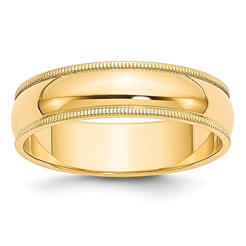 Best Designer Jewelry 14k 6mm Milgrain Half-Round Wedding Band by Jewelry Brothers Rings
