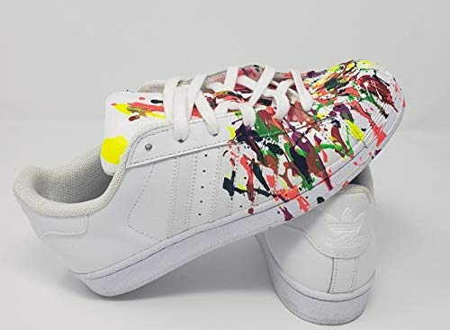 Wonderbaar Amazon.com: Custom Splatter Paint Superstar Sneakers: Handmade PT-26