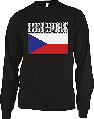- Amdesco Men's Czech Republic Flag, Czech Pride Flag Thermal Shirt, Black Large