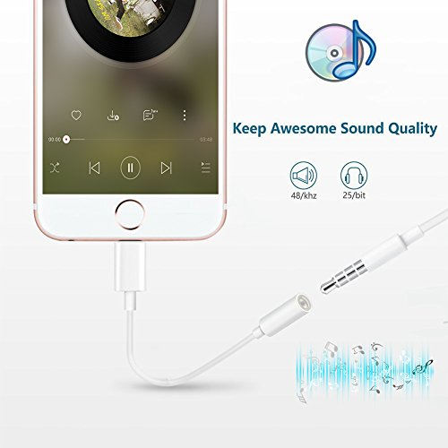 iPhone Headphone Adapter, Compatible iPhone 7/7Plus Adapter Headphone Jack, 2 Pack Lightning to 3.5 mm Headphone Jack Adapter Compatible iPhone 7/7 Plus Accessories by my-handy-design (Image #3)